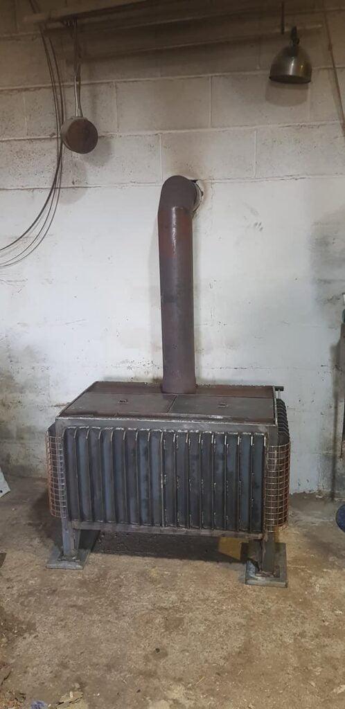 Workshop wood burner