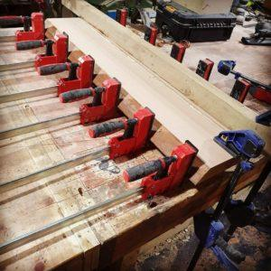 Clamping a bench top