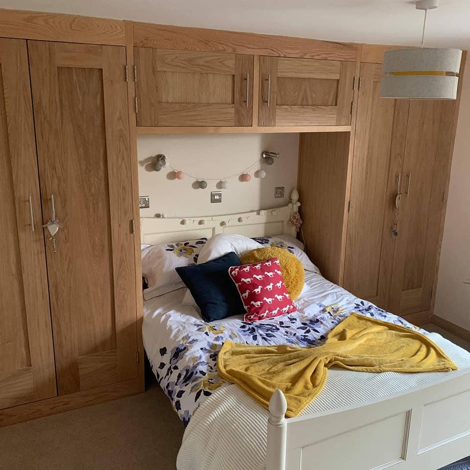 Oak custom wardrobes Litton Derbyshire